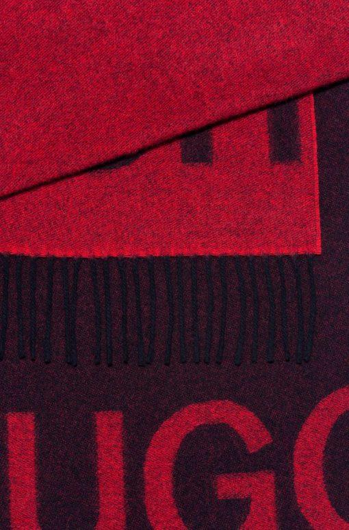 Hugo Boss Reversible Logo Scarf Grey