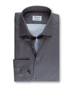 Stenströms Slim fitted Shirt Blue-brown