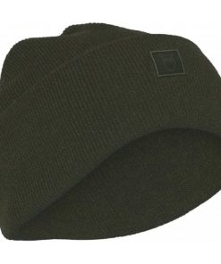 Knowledge Cotton Apparel Leaf Organic Wool Beanie Forrest Night