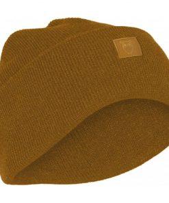 Knowledge Cotton Apparel Leaf Organic Wool Beanie Buckhorn Brown