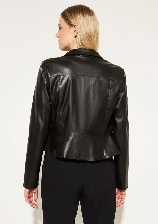 Comma, Faux Leather Jacket Black