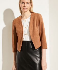 Comma, Short Blazer Camel Velour