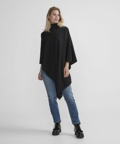 Holebrook Fia Rollneck Poncho Black