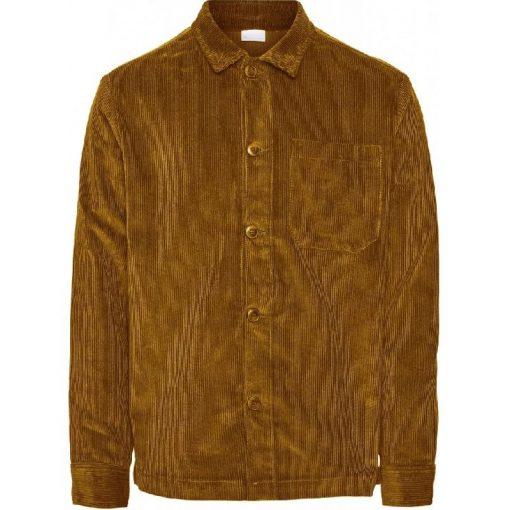 Knowledge Cotton Apparel 8 Wales Corduroy Overshirt Buckhorn Brown