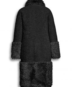 Beaumont Mix Lammy Reversible Long Coat Black