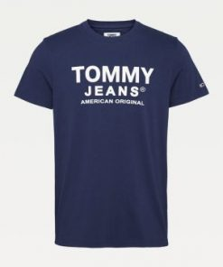 Tommy Tommy Jeans Essential Front Logo T-shirt Twilight Navy