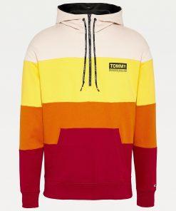 Tommy Jeans Half Zip Colour-Blocked Hoodie Multicolor