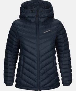 Peak Performance Frost Down Hood Jacket Women Blue Shadow