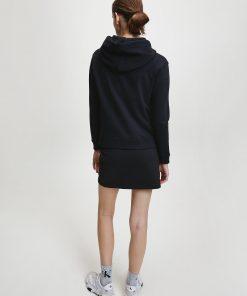 Calvin Klein Grid Logo Boxy Hoodie Black