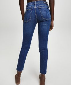 Calvin Klein Mid Rise Skinny Ankle Jeans  Dark Blue Embro