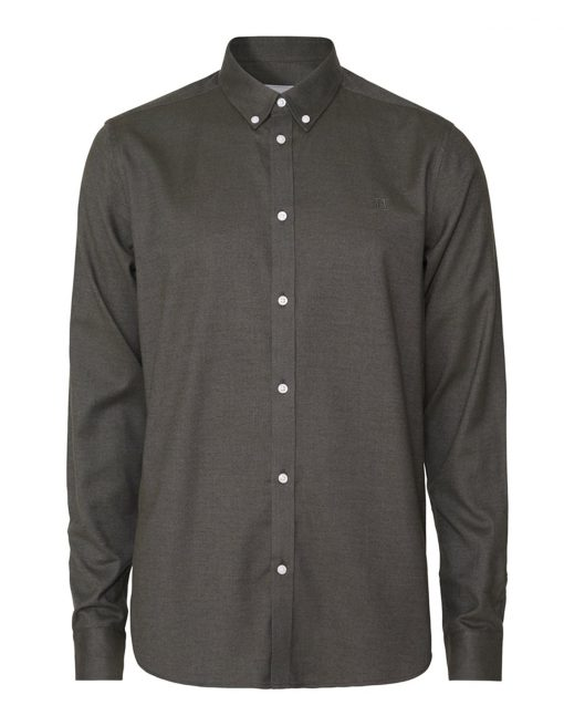 Les Deux Harrison B.D Brushed Shirt Deep Forres