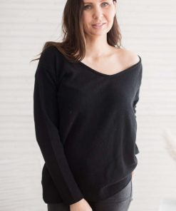 Pura Love V-neck Knit Black
