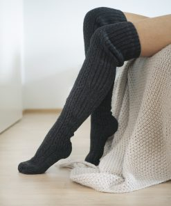 Pura Long Wool Socks Dark grey