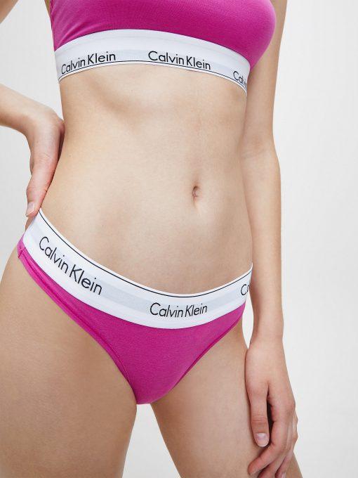 Calvin Klein Modern Cotton Thong Bright Magenta