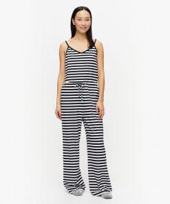 Marimekko Hiljainen Pyjama Pants Black/White