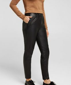 Esprit Leather Pant Black