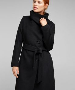 Esprit Wool Coat Black