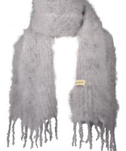 Balmuir Aurora Kid Mohair Scarf Light Grey