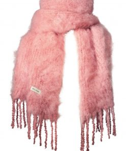 Balmuir Aurora Kid Mohair Scarf Winter Rose