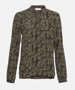 Moss Copenhagen Calie Morocco Shirt Sage Zebra