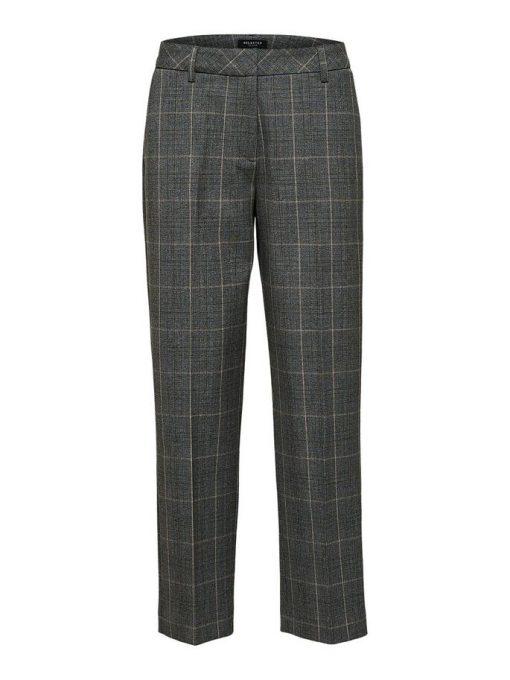 Selected Femme Milo Cropped Pants Medium Grey Melange