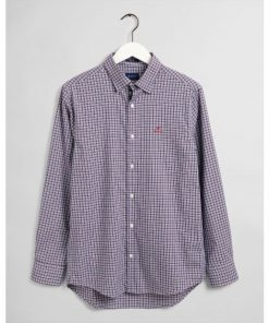 Gant Oxford Check Shirt Bright Red