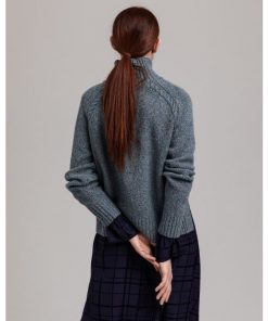 Gant Neps Cable Turtleneck Coronet Blue