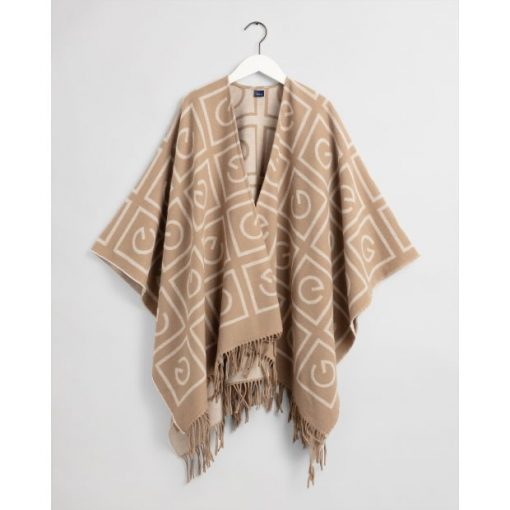 Gant Icon G Poncho Warm Khaki