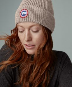 Canada Goose Arctic Disc Rib Toque Unisex Tan Heather