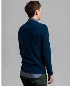 Gant Cotton Pique C-Neck Marine Melange