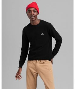 Gant Cotton Pique C-Neck Black