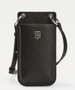 Tommy Hilfiger Essence Monogram Plaque Phone Wallet Black