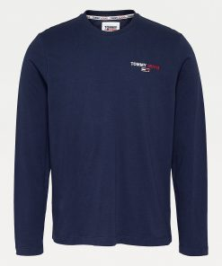 Tommy Jeans Chest Corp Longsleeve Tee Twilight Navy