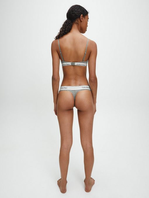 Calvin Klein Modern Cotton Thong Grey Heather