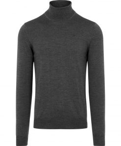 J.LINDEBERG LYD MERINO TURTLENECK SWEATER CLOUD DARK GREY MELANGE