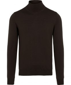 J.LINDEBERG LYD MERINO TURTLENECK SWEATER DARK BROWN