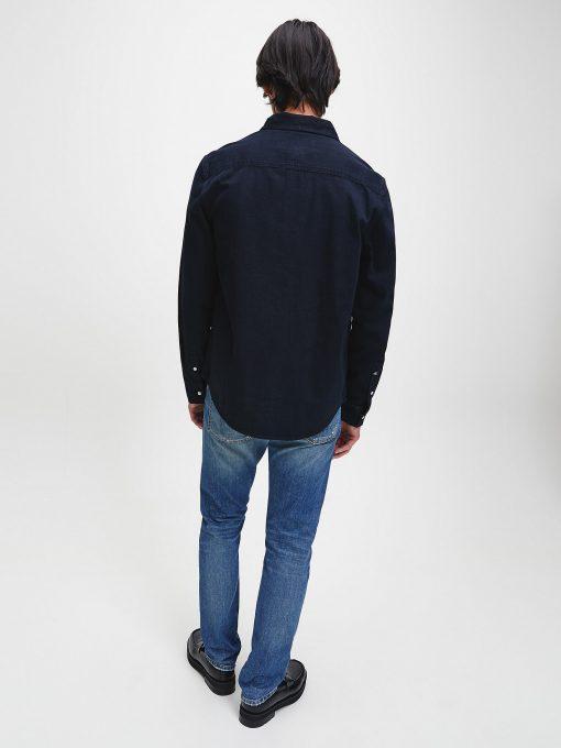 Calvin Klein Modern western Denim Shirt Mid Blue Black