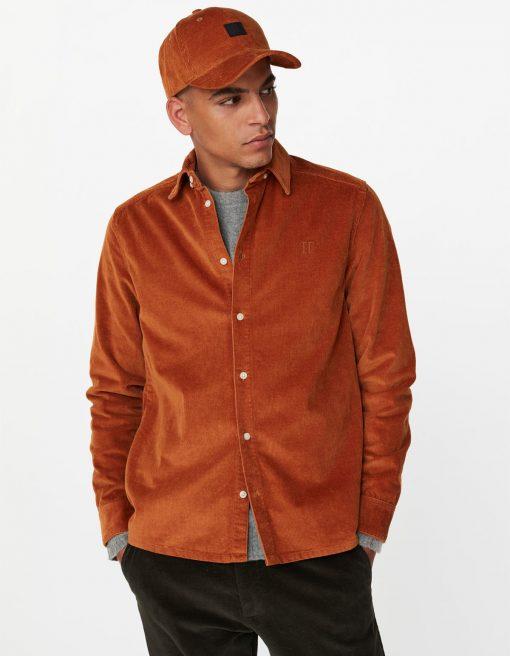 Les Deux Felix HW Corduroy Shirt Rusty Brown