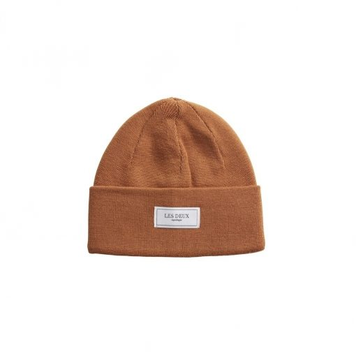 Les Deux Merino Patch Beanie Rusty Brown