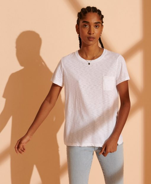 Superdry Scripted Crew Tee Brilliant White