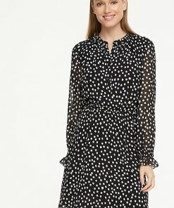 Comma, Dots Dress Black