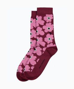 Marimekko Hieta Unikko Socks Pinkki
