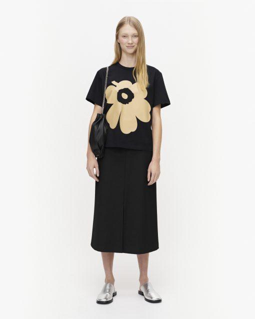 Marimekko Kapina Unikko T-shirt Black
