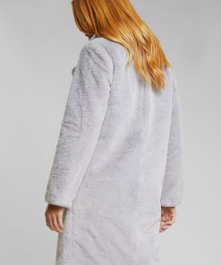 Esprit Teddy Coat Light Grey