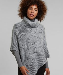 Esprit Poncho Light Grey