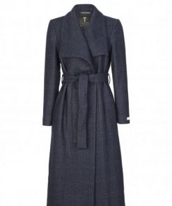 Ted Baker Herpen Check Coat Navy