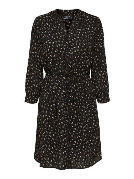 Selected Femme Damina Shirt Dress Black