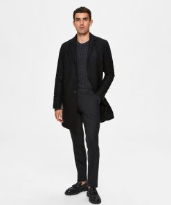 Selected Homme Hagen Wool Coat Black