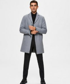 Selected Homme Hagen Wool Coat Grey