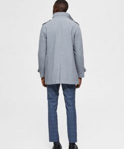 Selected Homme Noah Wool Coat Grey